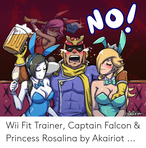 NO! Wii Fit Trainer Captain Falcon & Princess Rosalina by