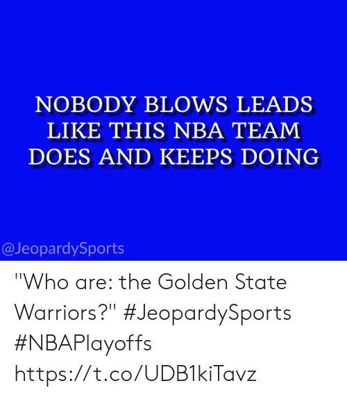 NOBODY BLOWS LEADS LIKE THIS NBA TEAM DOES AND KEEPS DOING