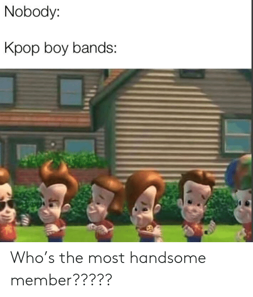 Boy, Kpop, and Who: Nobody:  Kpop boy bands: Who's the most handsome member?????