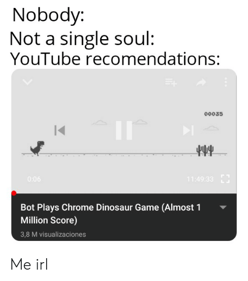 Nobody Not a Single Soul YouTube Recomendations 00035 Bot