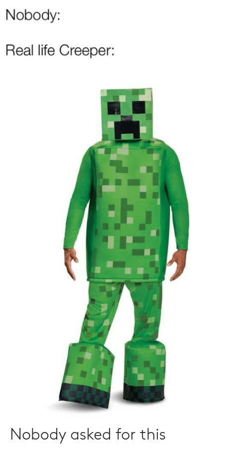 Nobody Real Life Creeper Nobody Asked For This Life Meme On Sizzle