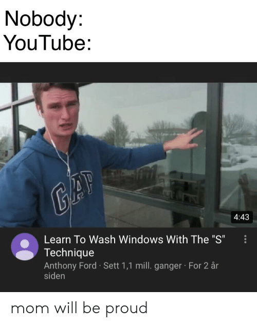 Nobody YouTube 443 Learn to Wash Windows With the S Technique