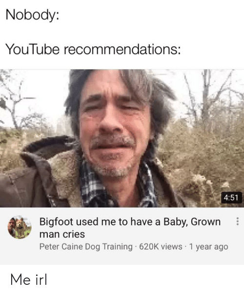 Nobody YouTube Recommendations 451 Bigfoot Used Me to Have a Baby