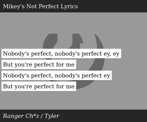 Nobody S Perfect Nobody S Perfect Ey Ey But You Re Perfect For Me Nobody S Perfect Nobody S Perfect Ey But You Re Perfect For Me Donald Trump Meme On Me Me Sometimes i'm here to jam i've gotta make a plan all lyrics are subject to us copyright laws and are property of their respective authors, artists and labels. meme