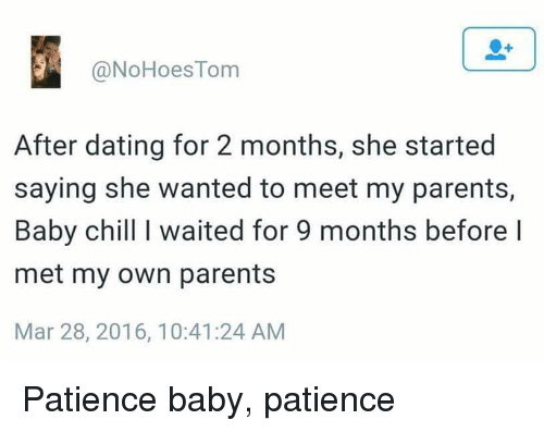 no patience for dating