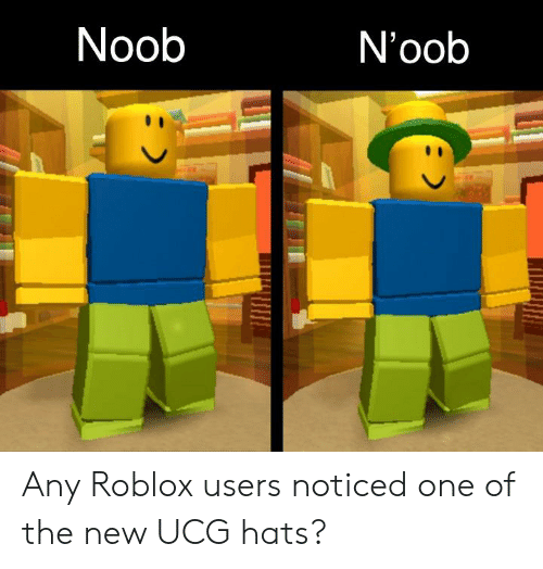 Noob Noob Any Roblox Users Noticed One Of The New Ucg Hats - roblox noob side view