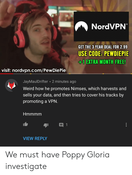 NordVPN GET THE 3 YEAR DEAL FOR 299 USE CODE PEWDIEPIE +1