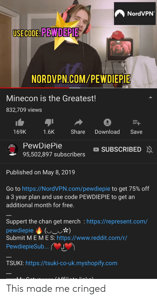 NordVPN USECODE PEWDEPIE NORDVPNCOMPEWDIEPIE Minecon Is the Greatest
