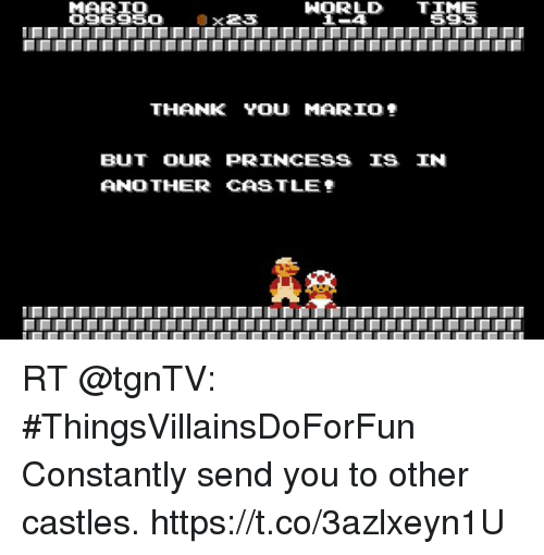 Norld Time Mario 096950 Ox23 Thank You Mario But Our Princess Is In