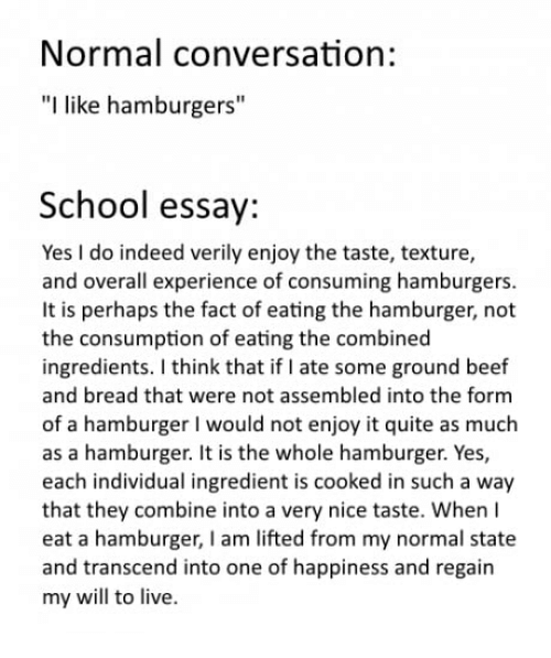 essay like hamburger Most of you are familiar with the 'hamburger paragraph' way of teaching paragraphs if not, here is a quick summary of how a paragraph is like a hamburger the top.