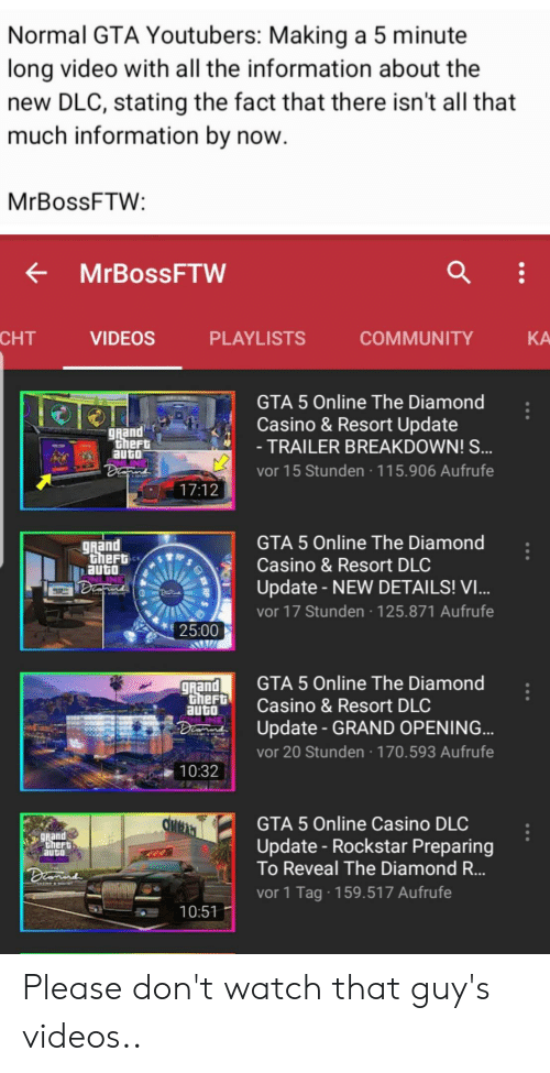 Normal GTA Youtubers Making a 5 Minute Long Video With All