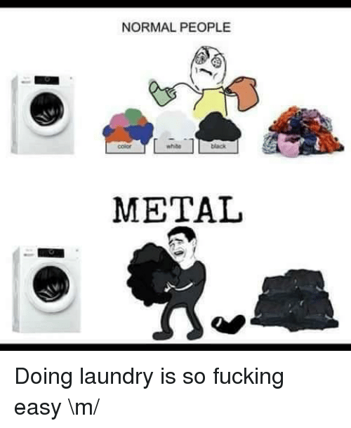 Fucking, Laundry, and Black: NORMAL PEOPLE  color  white  black  METAI