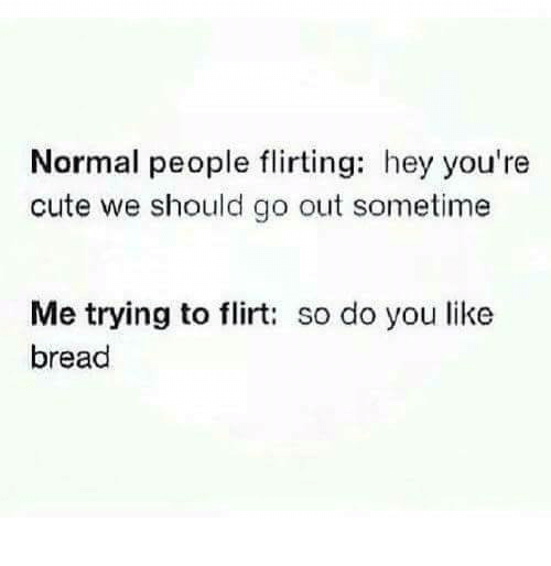 flirting meme with bread without