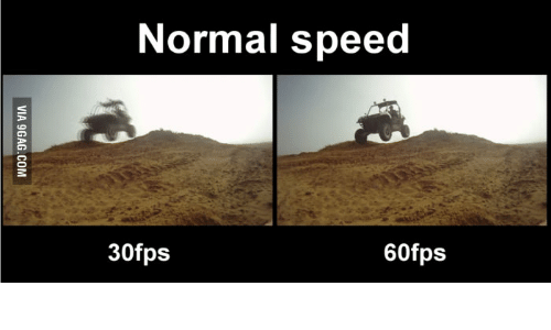 Speed and 240Hz Monitor: Normal speed 30fps 60fps