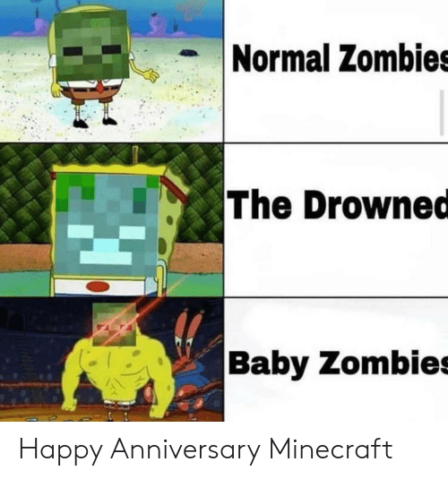 Normal Zombies the Drowned Baby Zombies Happy Anniversary