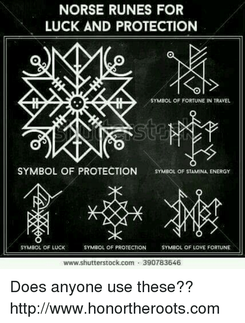 Norse Runes For Luck And Protection Symbol Of Fortune In Travel