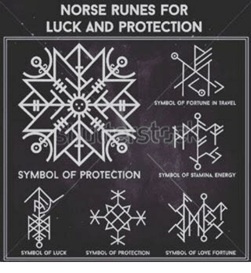 Norse Runes For Luck And Protection Symbol Of Protection Symbol Of