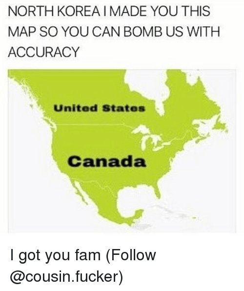 North Korea Imade You This Map So You Can Bomb Us With