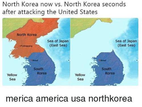 North korea now vs north korea seconds after attacking the united america memes and north korea north korea now vs north korea seconds gumiabroncs Choice Image