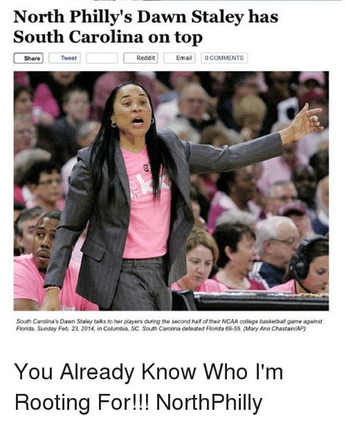North Philly's Dawn Staley Has South Carolina on Top C Share