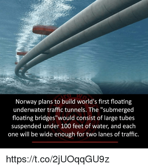 Norway Plans to Build World's First Floating Underwater