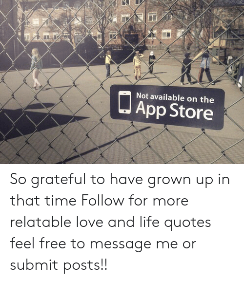 Not Available on the J App Store So Grateful to Have Grown