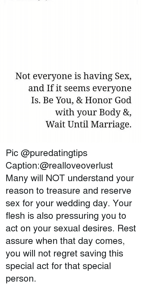 Why god reserves sex for marriage