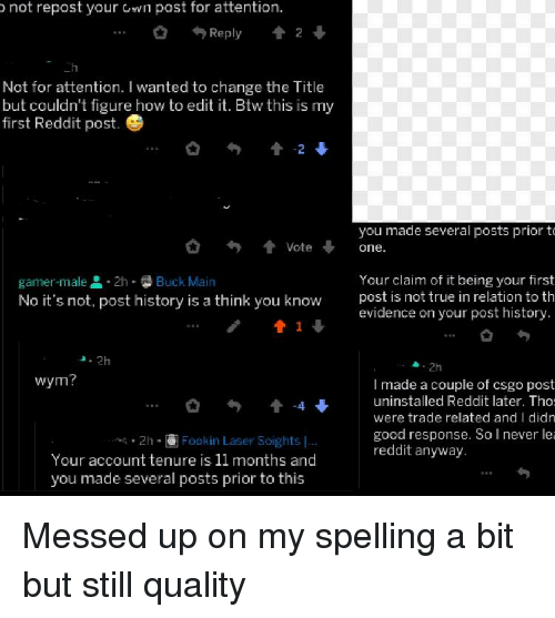 Not Repost Your Own Post for Attention 0 Reply 2 Not for Attention I