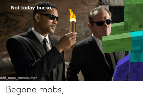 Not Today Bucko Begone Mobs   Meme on ME ME