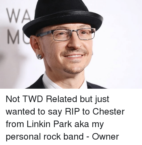 Memes, Band, and 🤖: Not TWD Related but just wanted to say RIP to Chester from Linkin Park aka my personal rock band - Owner