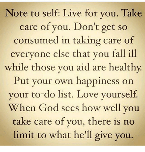 how to take care of you