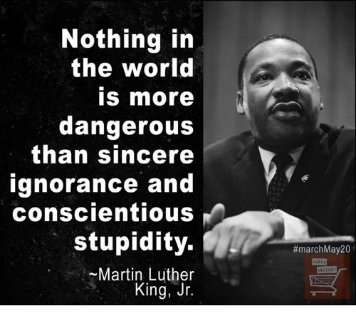 Nothing In The World Is More Dangerous Than Sincere Ignorance And