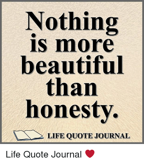 Nothing IS More Beautiful Than Honesty LIFE QUOTE JOURNAL Life Quote Custom Honesty Quotes