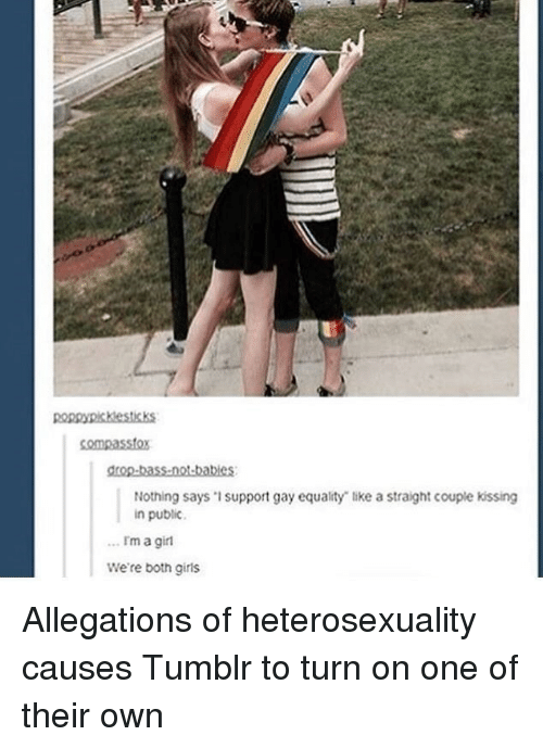 Girls Tumblr And Equalizer Nothing Says 1support Gay Equality Like A Straight Couple
