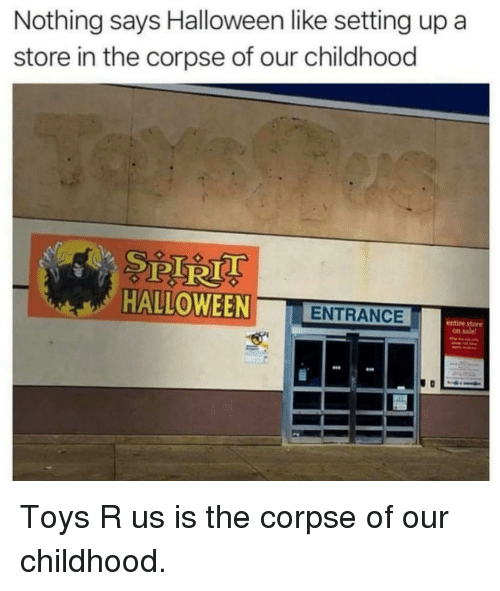 Nothing Says Halloween Like Setting Up a Store in the Corpse
