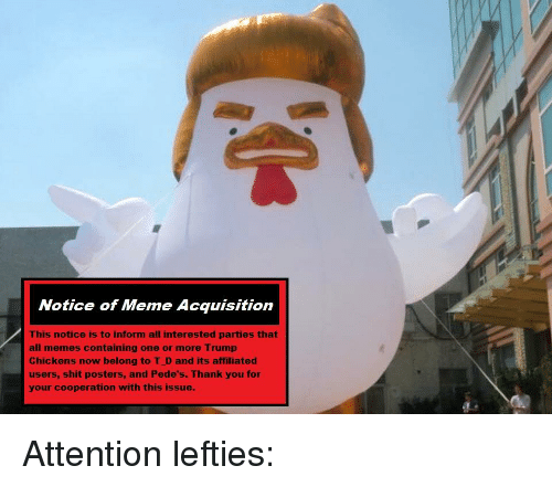 notice of meme acquisition this notice is to inform all 27116909 notice of meme acquisition this notice is to inform all interested