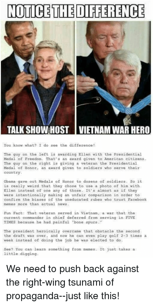 """Facebook, Memes, and News: NOTICE THE DIFFERENCE  TALK SHOW:HOST 