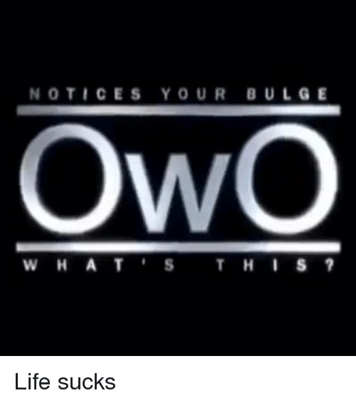 notices bulge