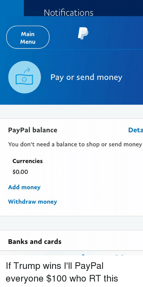Blackpeopletwitter Money And Bank Notifications Main P Menu Pay Or Send Paypal