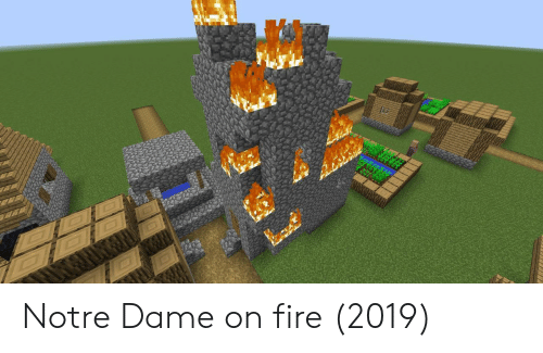 Fire, Notre Dame, and Dame: Notre Dame on fire (2019)