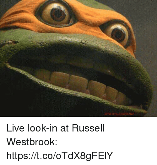 Russell Westbrook, Sports, and Live: NOTSportsCalle Live look-in at Russell Westbrook: https://t.co/oTdX8gFElY