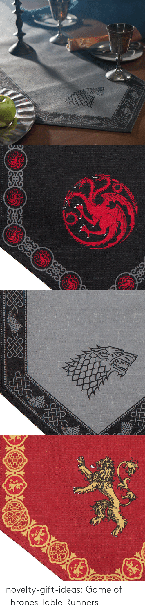 Game of Thrones, Tumblr, and Blog: novelty-gift-ideas:  Game of Thrones Table Runners