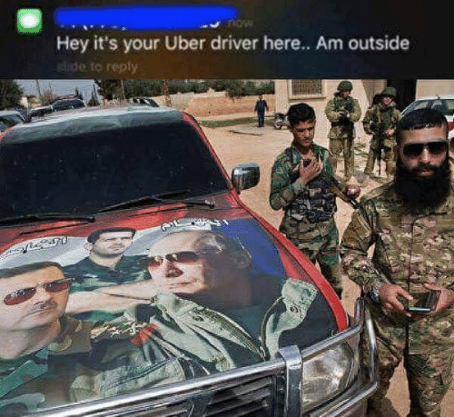 Uber, Uber Driver, and Ide: now  Hey it's your Uber driver here.. Am outside  ide to repfy