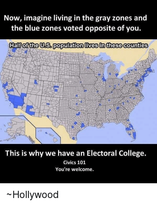 Best Memes About Electoral College Civics Electoral - 2016 us counties election map meme