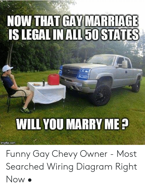 NOW THAT MARRIAGE IS LEGAL IN ALL 50 STATES WILL YOU ...  Chevy Wiring Diagram on