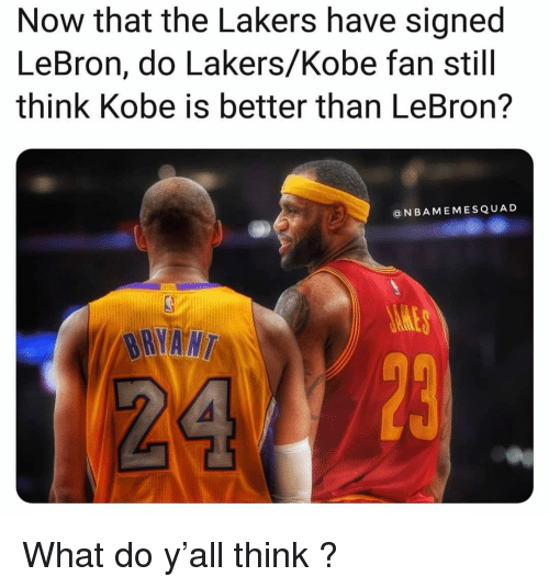 Now That the Lakers Have Signed LeBron Do LakersKobe Fan Still Think ... 4f356c3c5