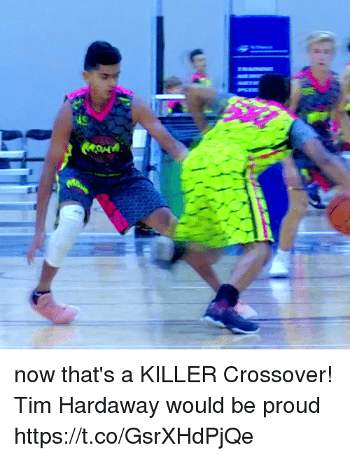 Memes, Proud, and 🤖: now that's a KILLER Crossover! Tim Hardaway would be proud https://t.co/GsrXHdPjQe