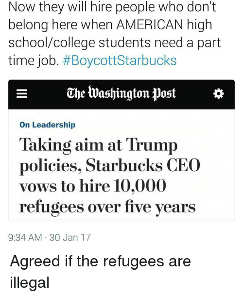 Now They Will Hire People Who Don't Belong Here When