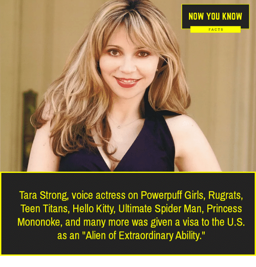 now you know facts tara strong voice actress on powerpuff girls