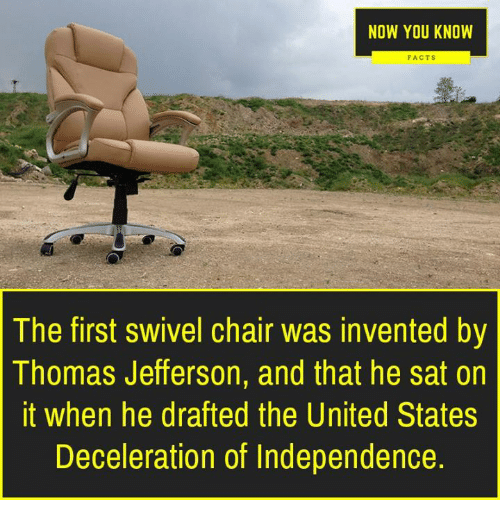 Pleasant Now You Know Facts The First Swivel Chair Was Invented By Gmtry Best Dining Table And Chair Ideas Images Gmtryco